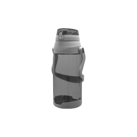 Wellness Large Water Bottle w/Handle and Leak-Proof Push Button Lid 88 oz. - Grey - 88 Oz.