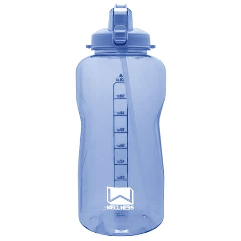 Giant Gallon Water Bottle with Carry Handle & Straw 128 oz. - Blue - 128 Oz.