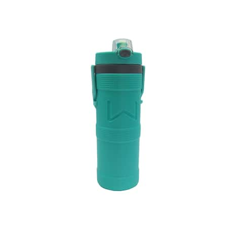 Wellness Foam Insulated Water Bottle with Carry Handle and Hook 32 oz. - Aqua - 32 Oz.
