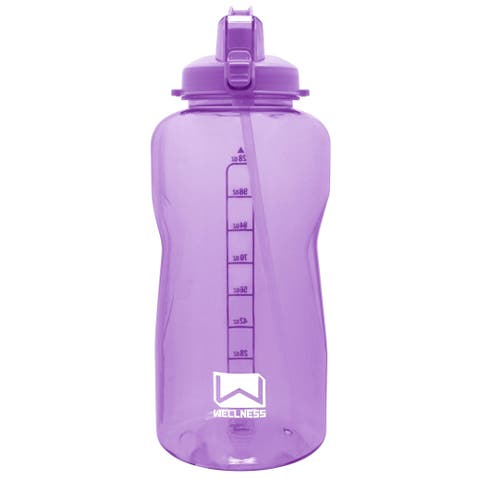 Giant Gallon Water Bottle with Carry Handle & Straw 128 oz. - Lilac - 128 Oz.