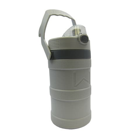 Wellness Foam Insulated Water Bottle with Carry Handle and Hook 128 oz. - Grey - 128 Oz.