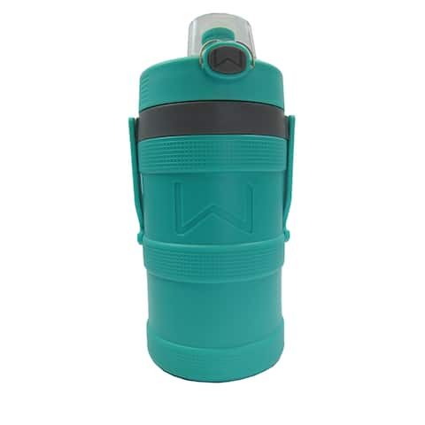 Wellness Foam Insulated Water Bottle with Carry Handle and Hook 128 oz. - Aqua - 128 Oz.