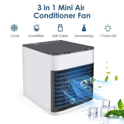 USB Mini Air Conditioner Cooler Fan Humidifiers Purifier 3 in 1 Cooler Portable Mini Ice Fan