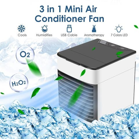 Portable Air Conditioner Cooler Fan Air Cooler Desktop Humidifiers Purifier 3 in 1 Cooling Fan Mini Ice Fan