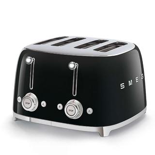 50's Retro Style Aesthetic 4 Slice Toaster Black