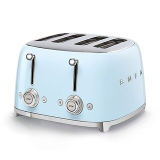 Link to 50's Retro Style Aesthetic 4 Slice Toaster Pastel Blue Similar Items in Kitchen Appliances