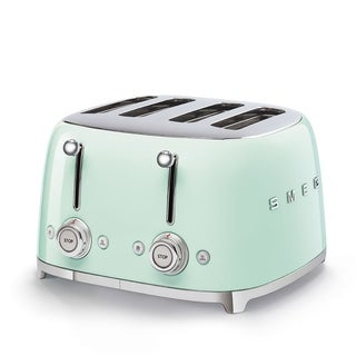50's Retro Style Aesthetic 4 Slice Toaster Pastel Green