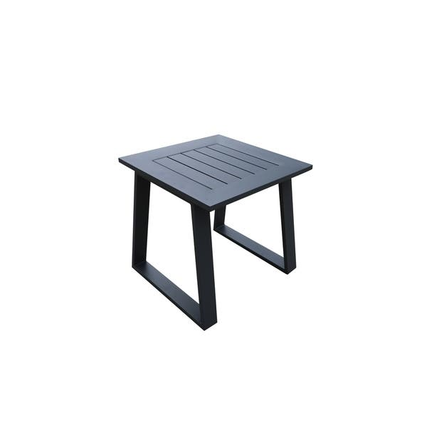 Cast Aluminum Outdoor Square End Table Patio Metal Side