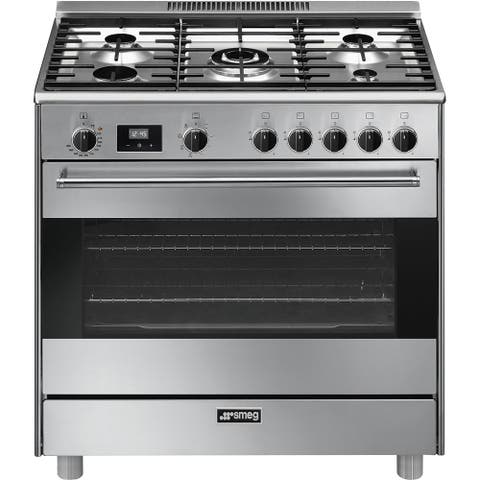 Smeg Free-Standing Dual-Fuel Range 36 inches Stainless Steel
