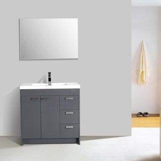 """Eviva Lugano 36"""" Grey Modern Vanity"""