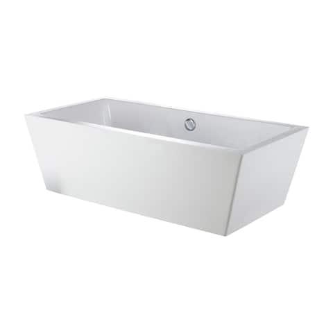 "Eviva Rachel Free Standing 67"" Acrylic Bathtub - N/A"