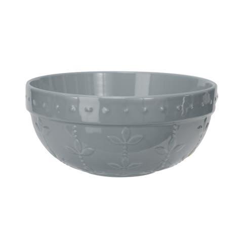 Signature Housewares Sorrento Medium Mixing Bowl, Light Grey