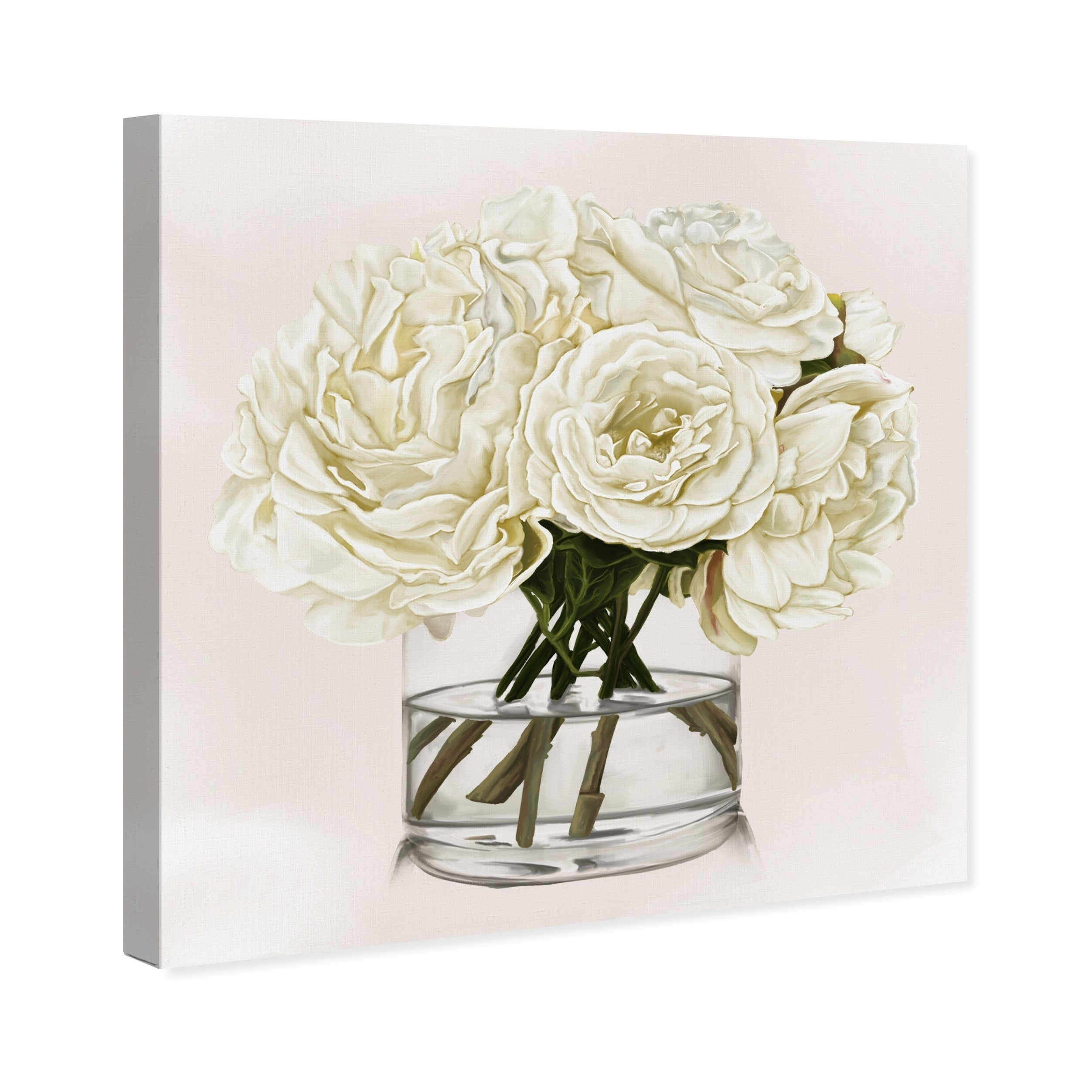 Oliver Gal White Floral Floral And Botanical Wall Art Canvas Print White Green Overstock 28844656