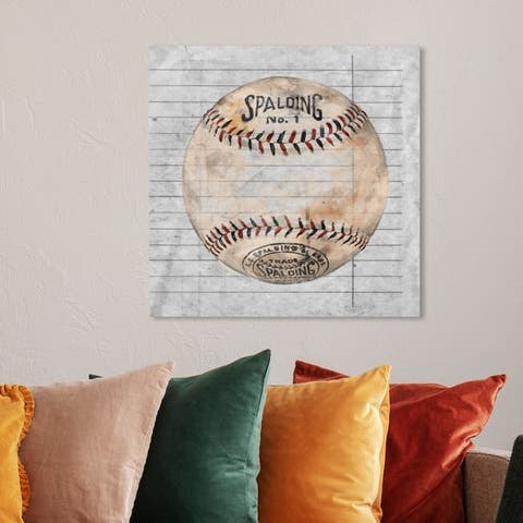 Oliver Gal 'Sphere' Sports and Teams Wall Art Canvas Print - White, Gray
