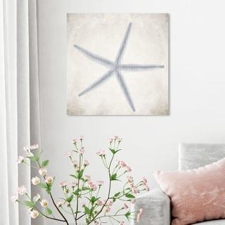 Oliver Gal 'Starfish Grey' Nautical and Coastal Wall Art Canvas Print - Blue, White
