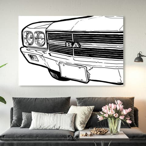 Oliver Gal 'SS Grill One' Transportation Wall Art Canvas Print - Black, White