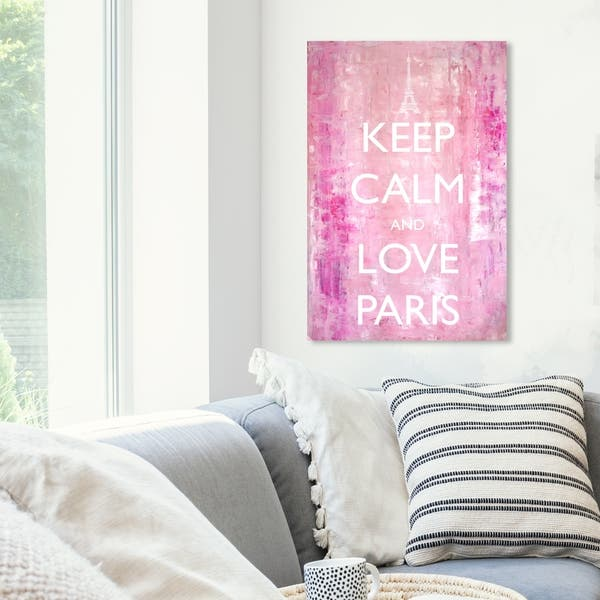 Shop Oliver Gal \'Keep Calm Love Paris\' Typography and Quotes ...