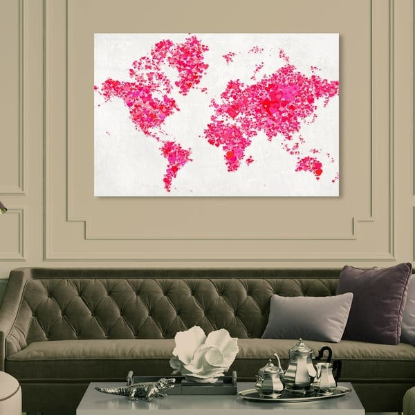 Shop Oliver Gal 'All The In The World' Maps and Flags ... on world maps history, world maps religion, old world map sale, world maps france, world maps software, world map globe sale, world maps games, world maps art, world maps furniture, world maps books,
