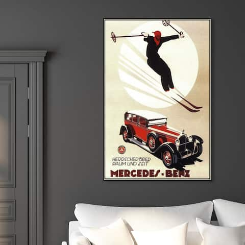 Oliver Gal 'Luxury Skiing ' Sports and Teams Wall Art Canvas Print - White, Red