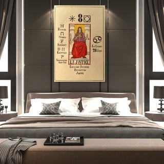 Oliver Gal 'The Justice' Spiritual and Religious Wall Art Canvas Print - White, Red