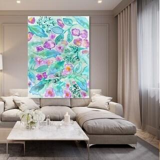 Oliver Gal 'Lavander Floral Mirage' Floral and Botanical Wall Art Canvas Print - Blue, Purple