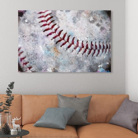 Oliver Gal 'Baseball Made' Sports and Teams Wall Art Canvas Print - White, Red