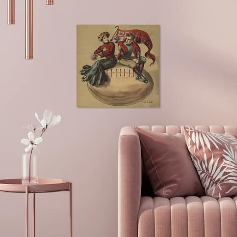 Oliver Gal 'Pennsylvania Vintage College Football' Sports and Teams Wall Art Canvas Print - White, Red