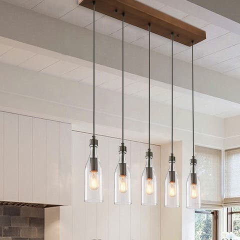 Carbon Loft Nobleza 5-light Kitchen Island-lighting Ceiling-lights Linear Chandelier