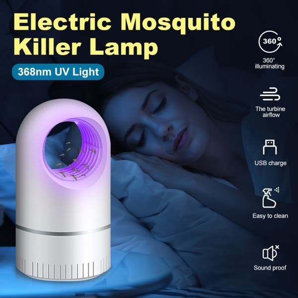 USB LED ELECTRIC UV LIGHT MOSQUITO KILLER INSECT GRILL BUG TRAP CATCHER LAMP