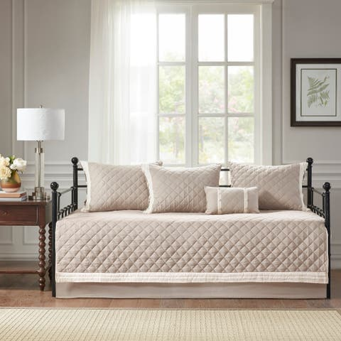 Madison Park Levine Khaki 6 Piece Cotton Daybed Cover Set