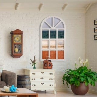 Glitzhome Wooden Decorative Window Frame