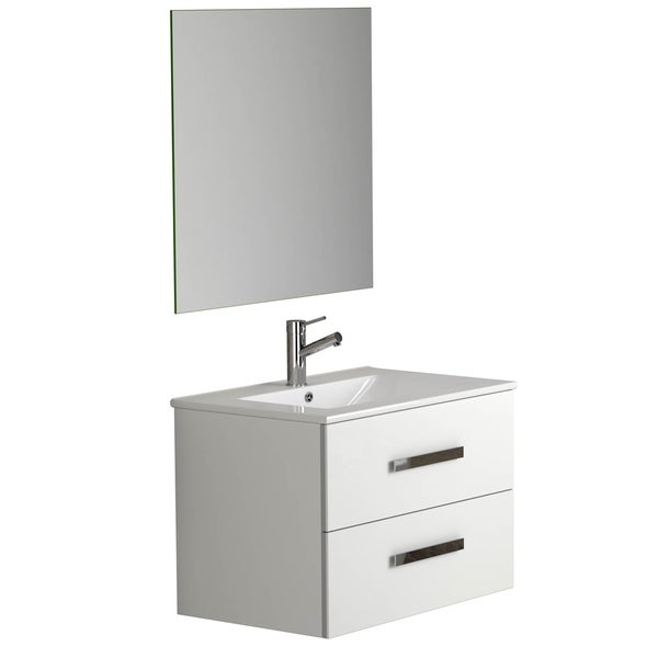 "Eviva Astoria 32"" White Vanity with Porcelain Sink"