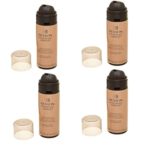 (4 Pack) NEW REVLON Photoready Airbrush Mousse Makeup, Rich Ginger, 1.4 Oz - Rich Ginger