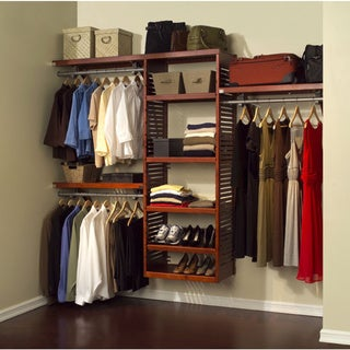 John Louis Home Collection Red Mahogany Deluxe Closet System
