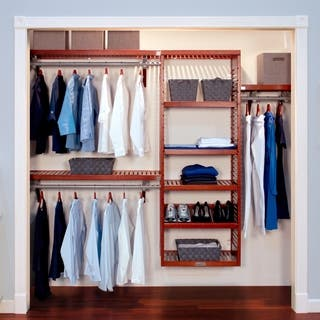John Louis Home Collection Red Mahogany Deluxe Closet System|https://ak1.ostkcdn.com/images/products/2885249/P11056091.jpg?impolicy=medium
