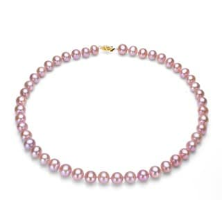 Pink Cultured Freshwater Pearl Necklace (9-10 mm) (Pack of 3)
