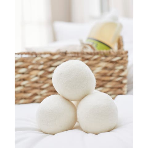 1221 Bedding Reusable Wool Dryer Balls (set of 3)