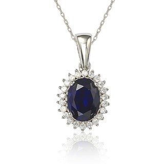 Suzy L Cubic Zirconia Sterling Silver Princess Diana Solitaire Pendant