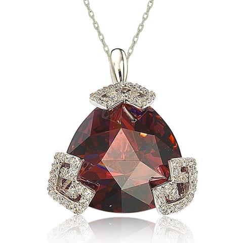 Suzy L. Sterling Silver Cubic Zirconia Trillion-cut Necklace