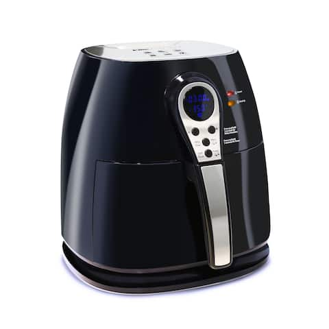 Elite EAF-05SS 3-Qt. Digital Air Fryer Stainless Steel Frying Basket - N/A