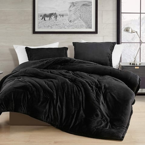Black Touchy Feely Coma Inducer Oversized Comforter