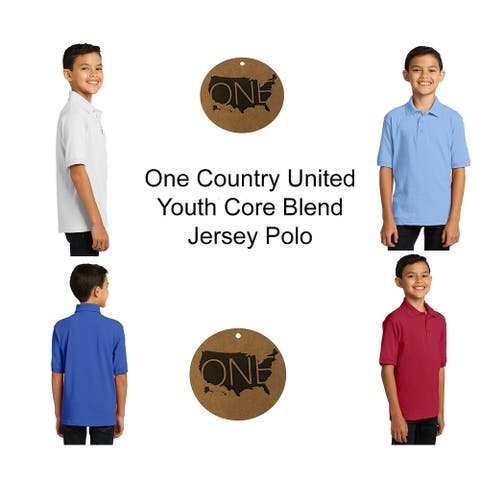 One Country United Youth Core Blend Jersey Knit Polo