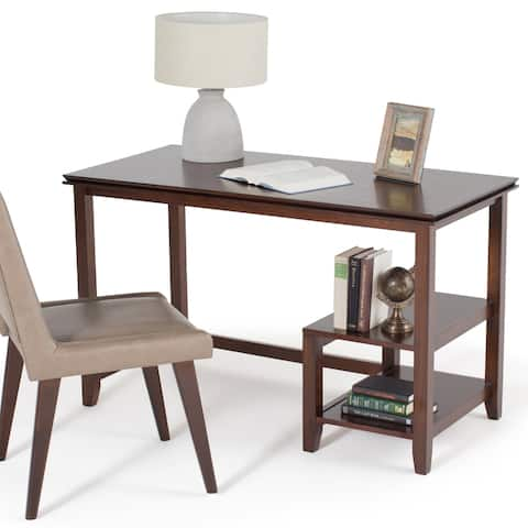 WYNDENHALL Stratford SOLID WOOD Contemporary 50 inch Wide Desk in Russet Brown
