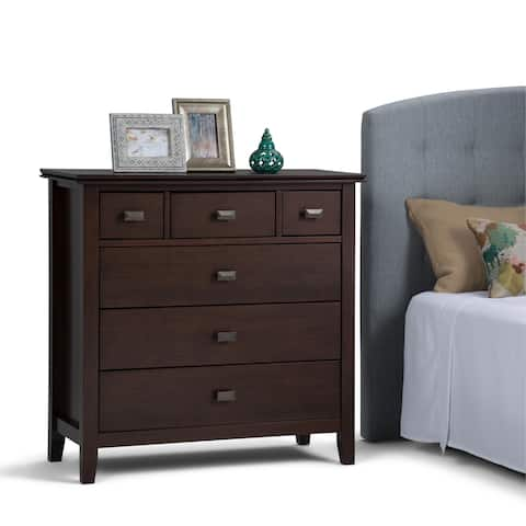 WYNDENHALL Stratford Solid Wood 36 inch Wide Contemporary Bedroom Chest of Drawers