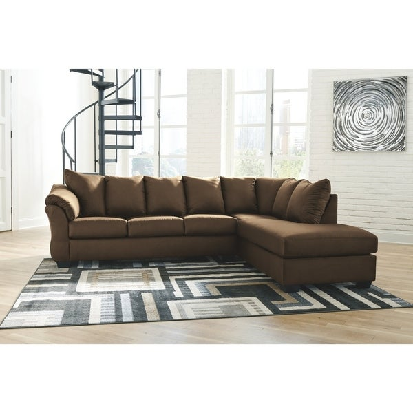 Darcy 2-Piece Sectional w/ Chaise Right Facing - Cafe