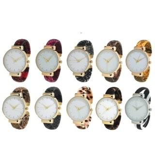 Link to Olivia Pratt Animal Print Bangle Cuff Watch Similar Items in Women's Watches
