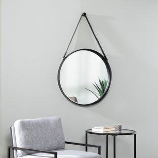 Abeille Industrial Black Metal Mirror