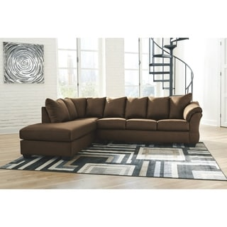 Darcy 2-Piece Sectional w/ Chaise Left Facing - Cafe