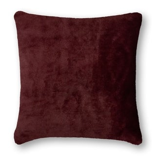 Thread and Weave Fury Tail Wine 20-inch Faux Fur Pillow