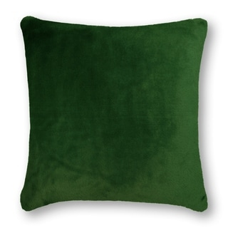 Thread and Weave Fury Tail Emerald 20-inch Faux Fur Pillow